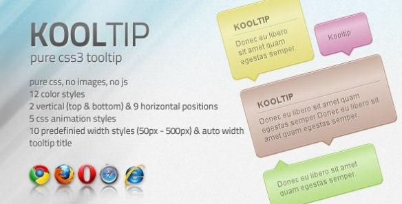 Kooltip - CSS3 tooltip