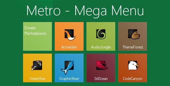 Metro - CSS3 Mega Menu