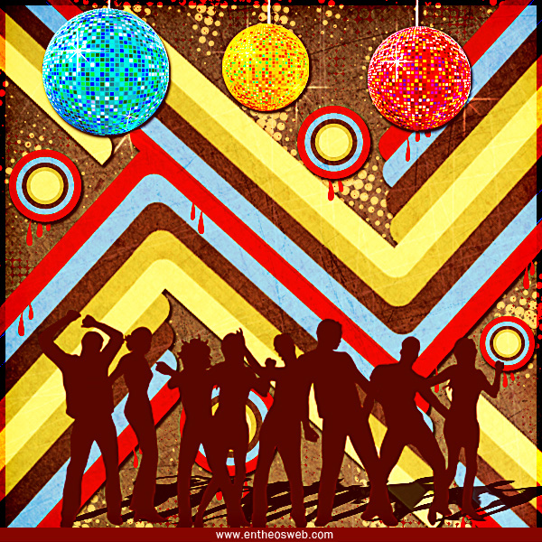 Retro Disco Background Design In Photoshop Entheos