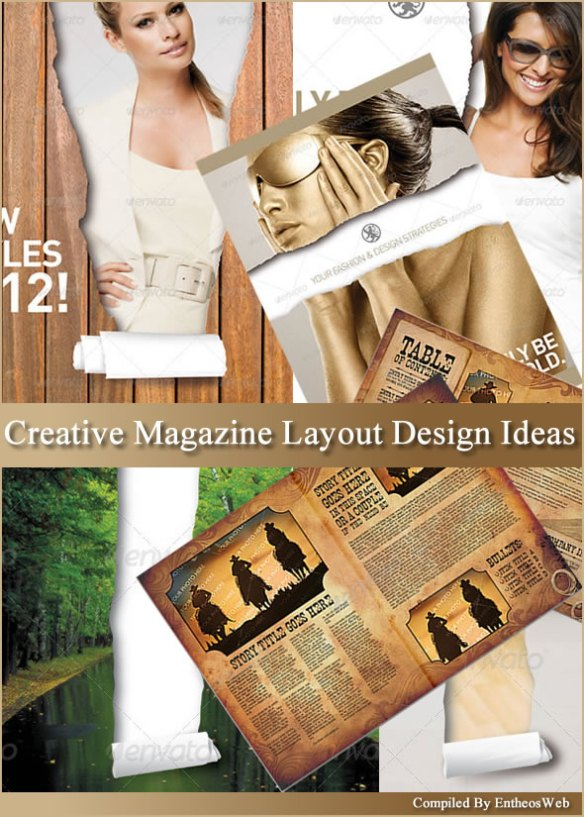 Creative Magazine Layout Design Ideas Entheosweb