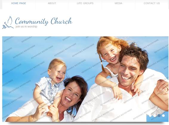 Community Church Website Template
