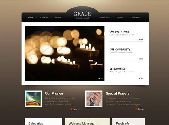 Grace Modern Website Template