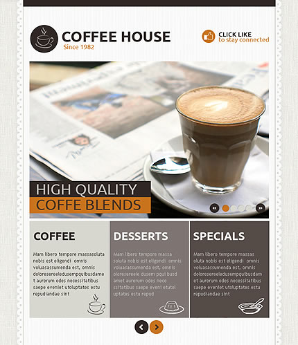 Template 39494 - Coffee House Facebook Template