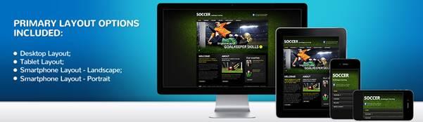 Soccer School Website Template