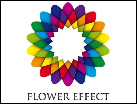 Geometric Flower Effect Logo in Illustrator