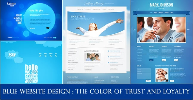 Blue Website Design : The Color of Trust and Loyalty