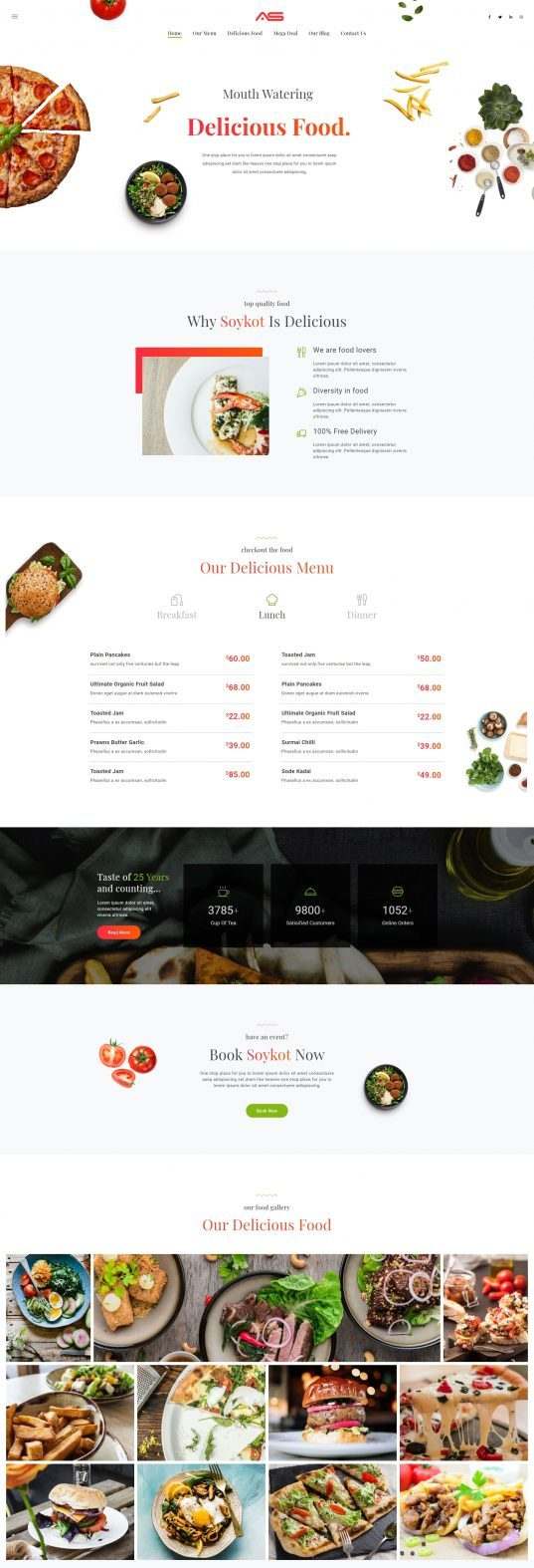 Soykot | Fast Food & Pizza Restaurants HTML5 Landing Page Template - Single Page Website With Animated Effects