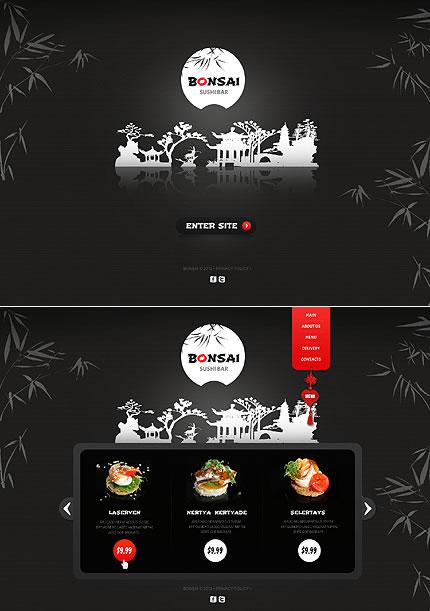Sushi Restaurant Single Page HTML5 Website Design