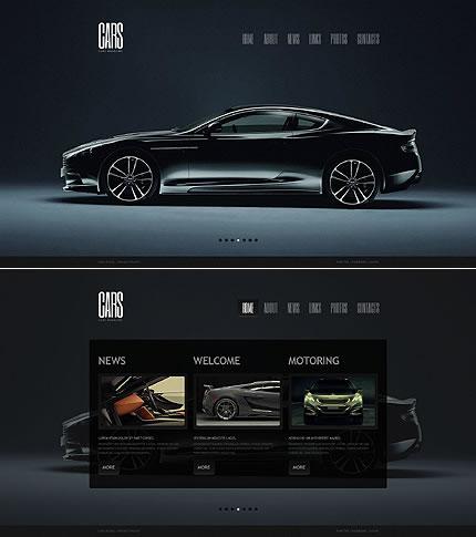 Single Page HTML5 Cars Website Design