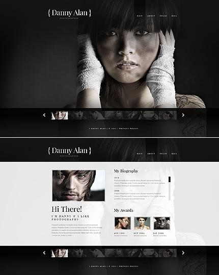 Photographer Portfolio Flash & XML Website Design