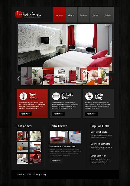 Interiox Interior Website Template