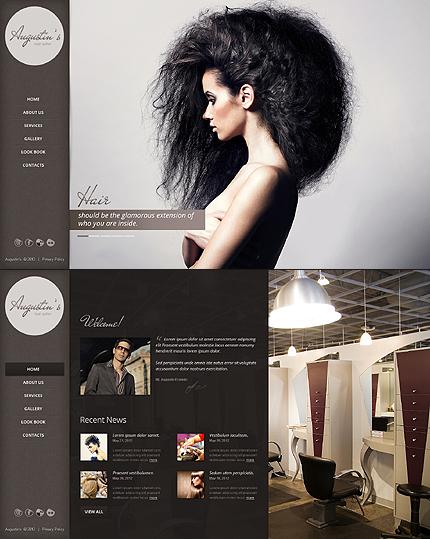 Augustin Hair Website Template