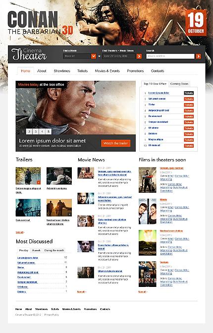 Cinema Films Website Template
