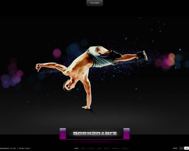 Born 2 Dance Flash Website Template