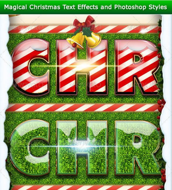 Magical Christmas Text Effects and Photoshop Styles