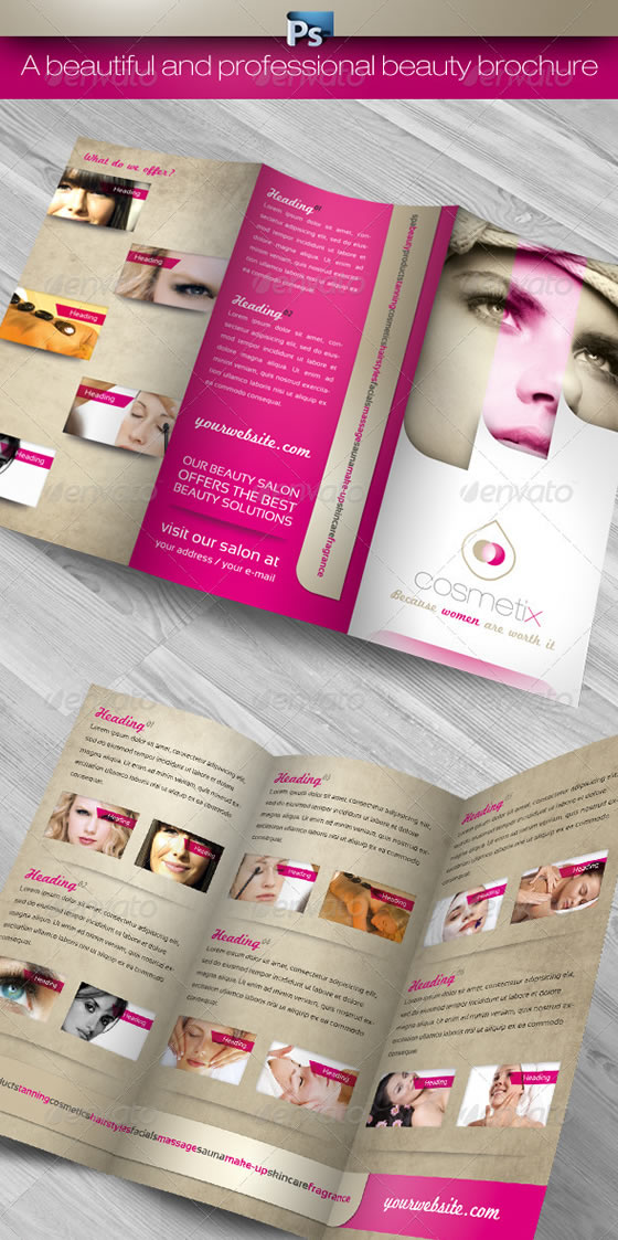 RW Cosmetix Beauty Salon Trifold Brochure