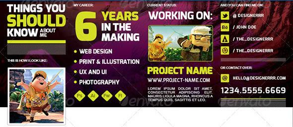 Creative Resume | FB Timeline Cover Kit
