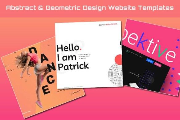 Abstract & Geometric Design Website Templates