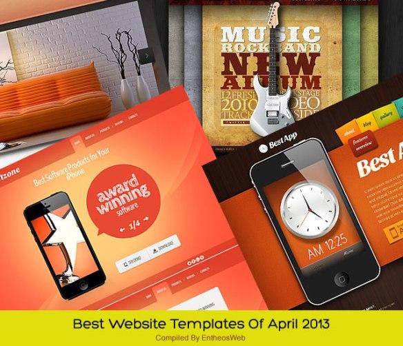 Best Website Templates Of April 2013