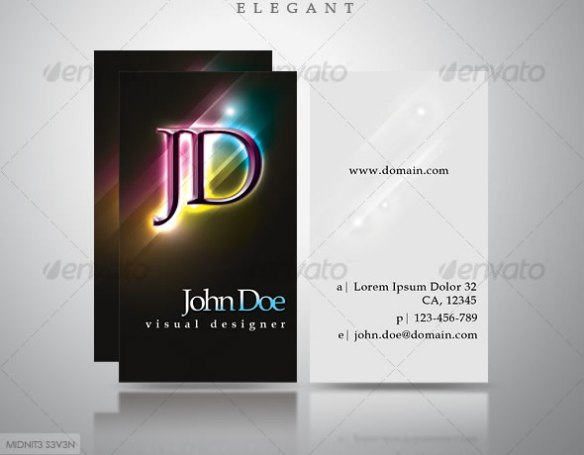 Elegant Dark Business Card #3