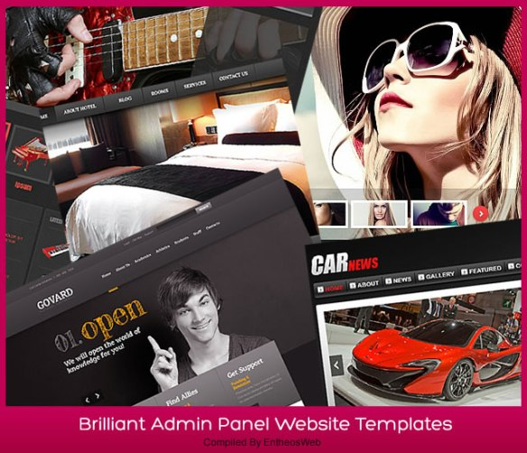Brilliant Admin Panel Website Templates
