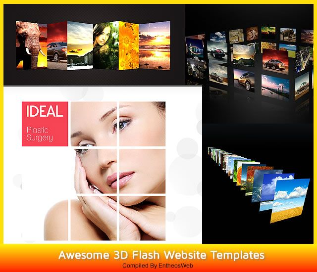 Awesome 3D Flash Website Templates