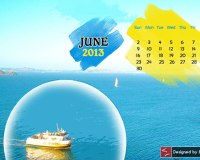 Free June 2013 Desktop Wallpaper Calendar