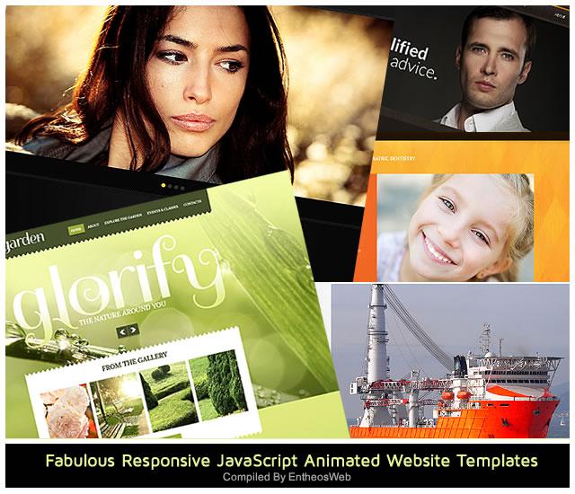 Fabulous Responsive JavaScript Animated Website Templates