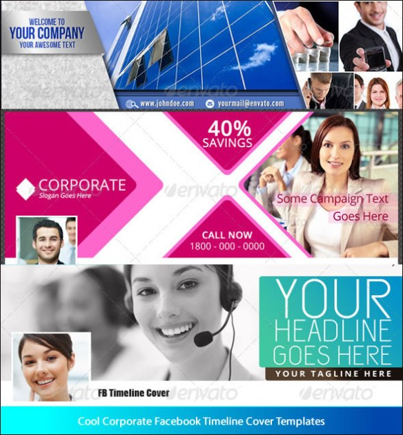 Cool Corporate Facebook Timeline Cover Templates