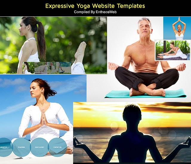 Expressive Yoga Website Templates