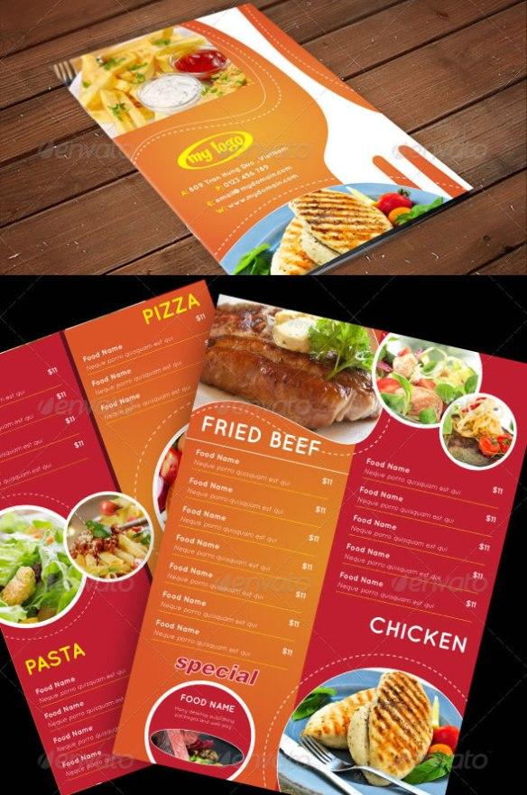 A4 Flyer Food Menu Vol 2