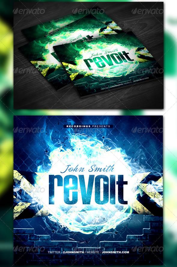 Revolt Mixtape / CD Template