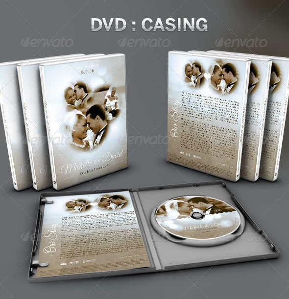 Vintage Wedding: CD/DVD Template