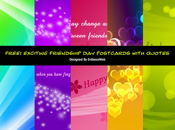 FREE! Exciting Friendship Day Postcards With Quotes