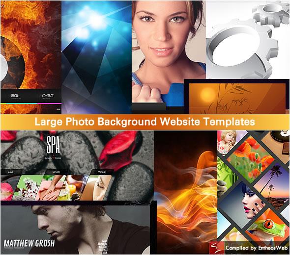 Large Photo Background Website Templates