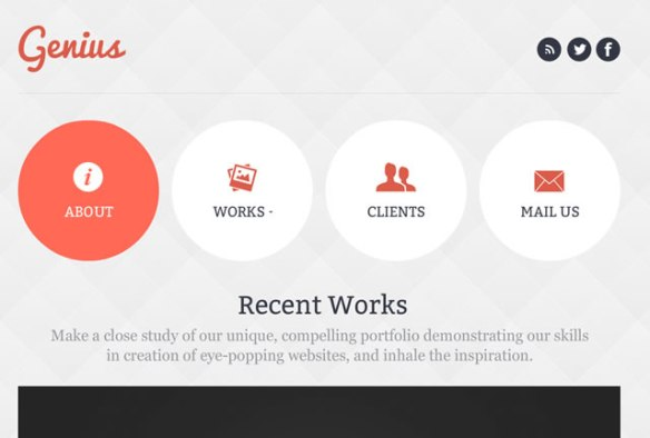 Template 46663 - Design Flash CMS Template with Homepage Slider, Grid Background, Circles