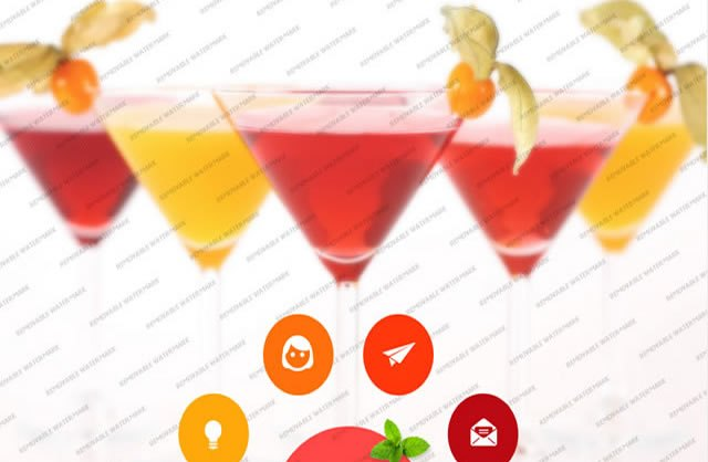 Template 46558 - Bartenders School Website Template with Bootstrap, Colorful Circles
