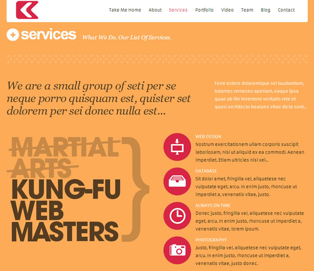 Kronos - One Page Responsive WordPress Theme