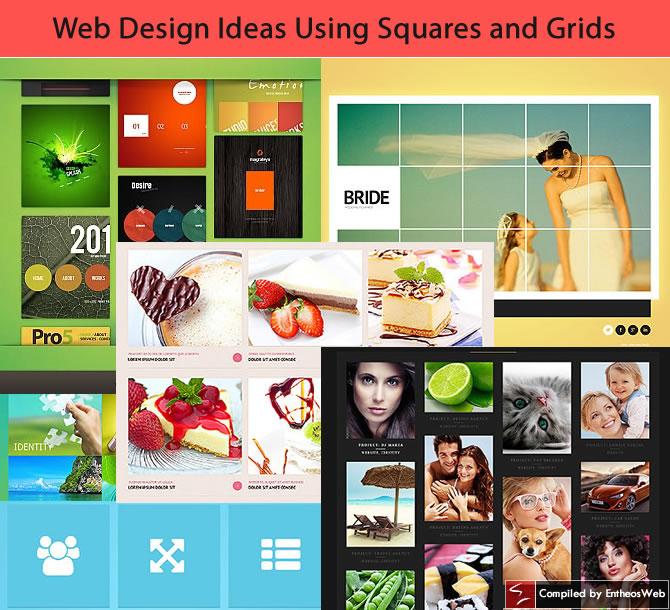Web Design Ideas Using Squares and Grids