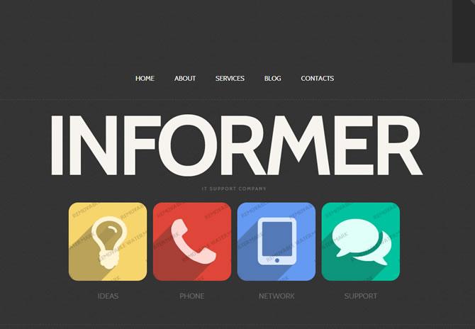 Template 46358 - Informer Internet Website Template