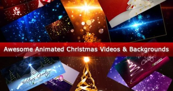 Awesome Animated Christmas Videos & Backgrounds
