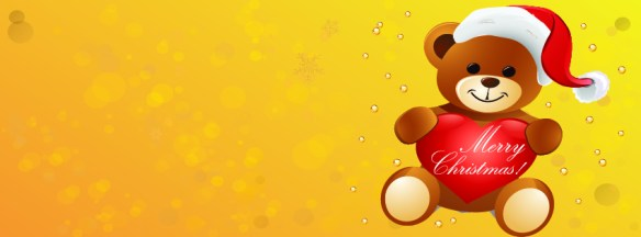 Christmas wishes by Teddy - facebook timeline cover