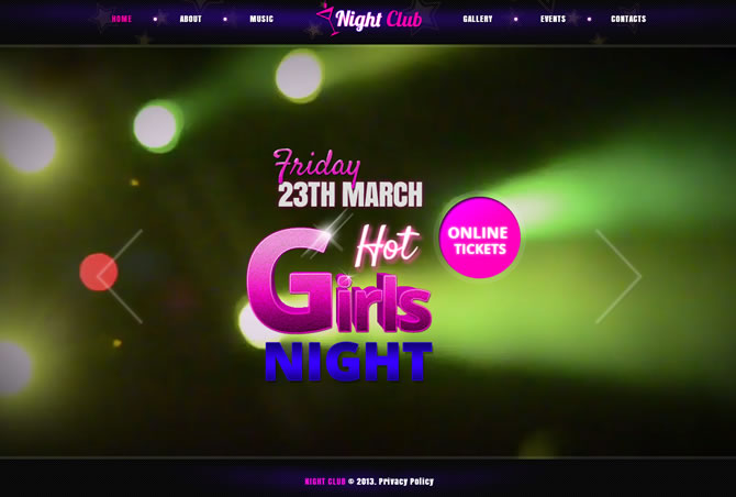 Night club - Fullscreen Video & Image Background