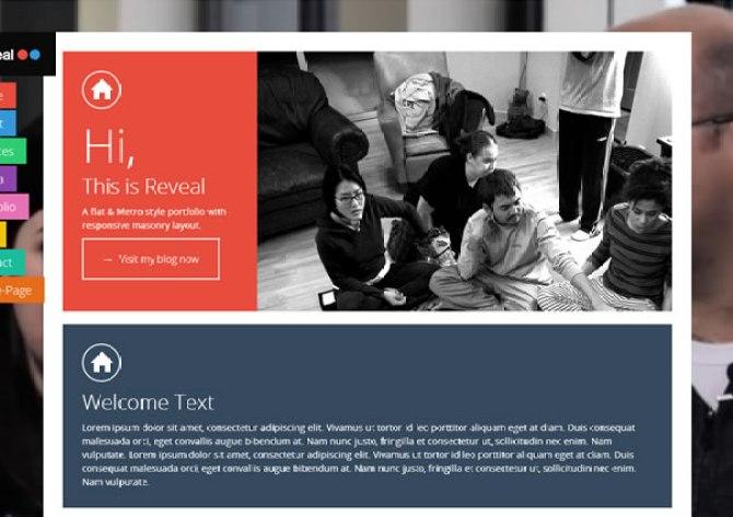 REVEAL - Flat & Metro Masonry Responsive Portfolio