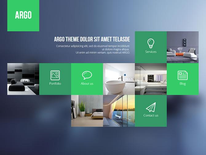 Argo - Modern OnePage Bootstrap Metro UI Template