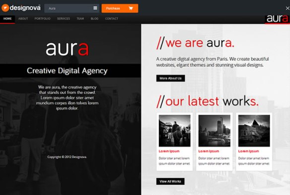 Aura - HTML5 Responsive Split-Scroll on Bootstrap