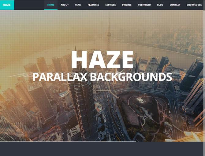 Haze - One Page Responsive Parallax Theme