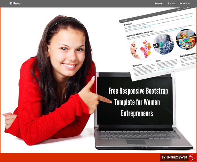 Free Responsive Bootstrap Template for Women