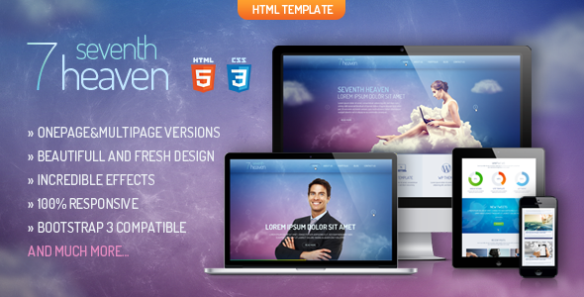 Heaven - Onepage & Multipage Creative Template