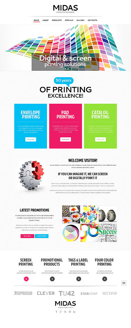 Template 47978 - Midas Printing Responsive Website Template